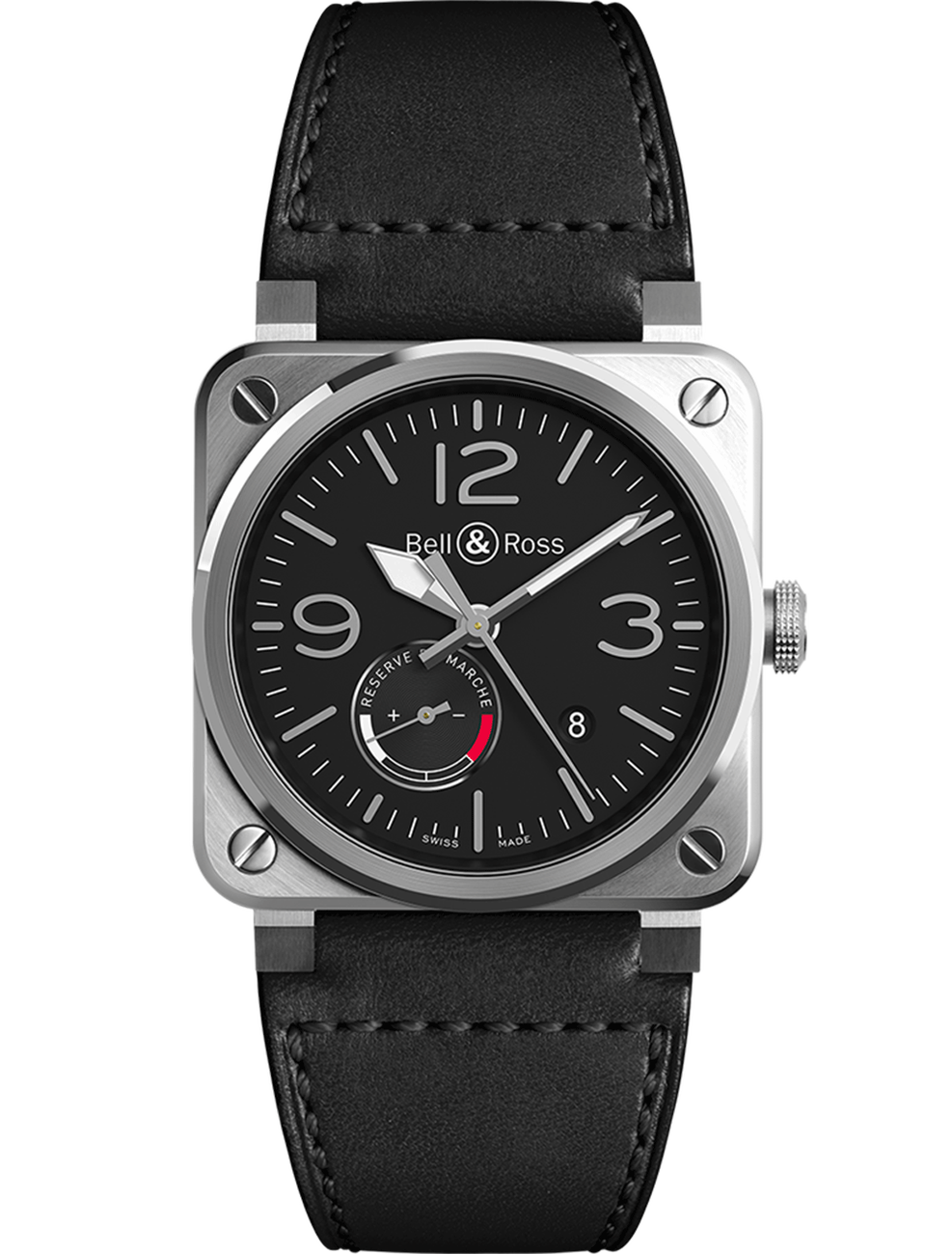 BELL & ROSS BR03 BR0397-BL-SI/SCA
